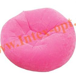 INTEX 68569 Надувное кресло 107х104х69см Розовое (без насоса)