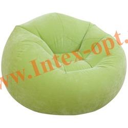 INTEX 68569 Надувное кресло 107х104х69см Салатовое (без насоса)
