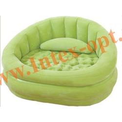 INTEX 68563 Надувное кресло 91х102х65см Салатовое(без насоса)