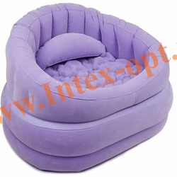 INTEX 68563 Надувное кресло 91х102х65см Фиолетовое(без насоса)