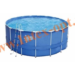Summer Escapes Бассейн на опорах 366х122 см (лестница, настил, тент)