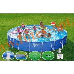 Summer Escapes Бассейн на опорах 427х132 см (фильтр-насос 3,8м3 220В, лестница, настил, тент, набор для чистки DELUXE, скиммер)