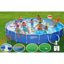 Summer Escapes Бассейн на опорах 549х132 см (фильтр-насос 5,7м3 220В, лестница, настил, тент, набор для чистки DELUXE, скиммер)