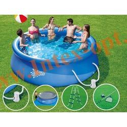 Summer Escapes Бассейн надувной 365 х 99 см(фильтр-насос 2270 л/ч 220 В, лестница, настил, тент, набор д/чистки)