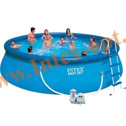 INTEX 28176(54920) Бассейн надувной 549х122 см (видео, фильтр-насос 5.7 м3/ч 220 В, лестница, настил, тент)