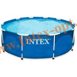 INTEX 28200(56997) Бассейн каркасный круглый 305х76 см(с DVD инструкцией)