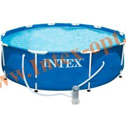 INTEX 28202(28702) Бассейн каркасный круглый 305х76 см( фильтр-насос 2 м3 + DVD инструкция)