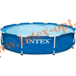 INTEX 56940 Бассейн каркасный круглый 457х91 см (DVD инструкция)