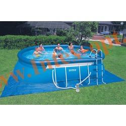 INTEX 28192(54932) Бассейн овальный надувной с металлическим каркасом 549х305х107 см (насос-фильтр 3.8 м3 220в, лестница, настил, тент + DVD инструкция)