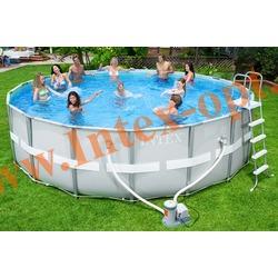 INTEX 28322(54452) Бассейн каркасный круглый ULTRA FRAME 488х122 см ( фильтр-насос 5.7 м3 220в, лестница, настил, тент + DVD инструкция)