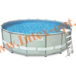 INTEX 28332/28336(OEM) Бассейн каркасный круглый ULTRA FRAME 549х132 см (Лестница, настил, тент + DVD инструкция)