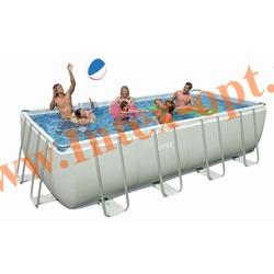 INTEX 28350(OEM) Бассейн каркасный прямоугольный ULTRA FRAME 400х200х100 см (лестница + DVD инструкция)