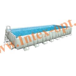 INTEX 28372/28376(OEM) Бассейн каркасный прямоугольный ULTRA FRAME 975х488х132 см (лестница, настил, тент + DVD инструкция)