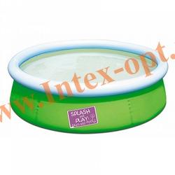 BestWay 57241 Бассейн надувной 152х38 см(без насоса) зелёный