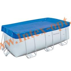 BestWay 58232 Тент для прямоугольных каркасных бассейнов 404х201х100, 412х201х122 см