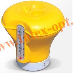BestWay 58209 Плавающий дозатор-поплавок с термометром 18,5 см