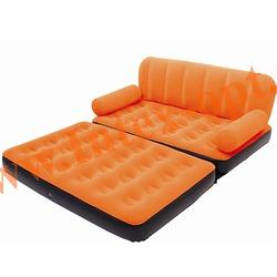 BestWay 67356 Оранжевая двуспальная надувная кровать-трансформер 188х152х64см