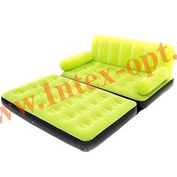 BestWay 67356 Зеленая двуспальная надувная кровать-трансформер 188х152х64см