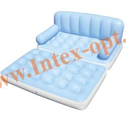 BestWay 75038 Двуспальная надувная кровать-трансформер 5 в 1 188х152х64см (с внешним электрическим насосом 220 В)