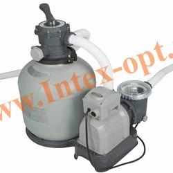 INTEX 28652 Песочный фильтр-насос для очистки воды плавательных бассейнов 10 куб.м/ч, 220 В