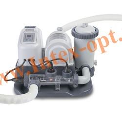 INTEX 28674/28672/54616 Хлор-генератор совмещенный с картриджным фильтр-насосом 4 542 л/ч(объемом до 26 500 л)