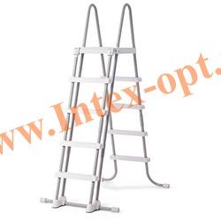 INTEX 28074(58971) Лестница с площадкой для плавательных бассейнов высотой 132 см
