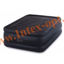 INTEX 64440 Двуспальная надувная кровать 152х203х56 см (со встроенным насосом 220В)