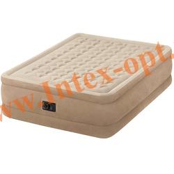 INTEX 64458 Двуспальная надувная кровать 152х203х46 (со встроенным насосом 220В)