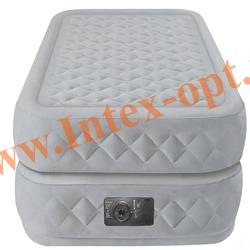 INTEX 64462 Односпальная надувная кровать Supreme Air-Flow Bed 99х191х51см (со встроенным насосом 220В)