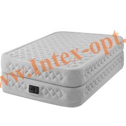 INTEX 64464 Двуспальная надувная кровать Supreme Air-Flow Bed 152х203х51см (со встроенным насосом 220В)