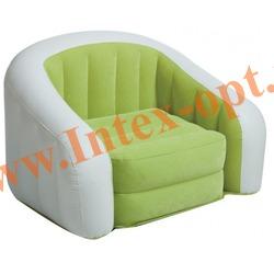 INTEX 68597 Надувное кресло детское 69х56х48 см(без насоса) лайм