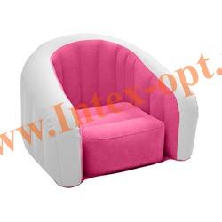 INTEX 68597 Надувное кресло детское 69х56х48 см(без насоса) розовое