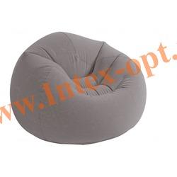 INTEX 68579 Кресло надувное Beanless Bag Chair 107х104х69 см(без насоса)