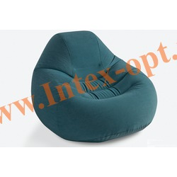 INTEX 68583 Надувное кресло Deluxe Beanless Bag Chair 122х127х81 см (без насоса) изумрудное
