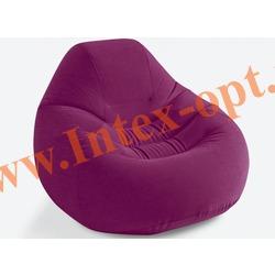 INTEX 68584 Надувное кресло Deluxe Beanless Bag Chair 122х127х81 см (без насоса) бордовое