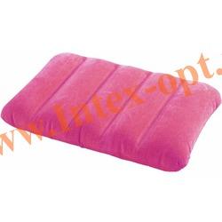 INTEX 68676 Надувная флокированная подушка Kidz Pillow 43х28х9 см(розовая)