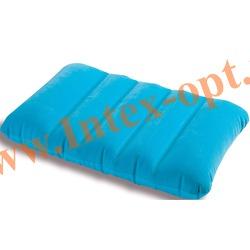 INTEX 68676 Надувная флокированная подушка Kidz Pillow 43х28х9 см(голубая)