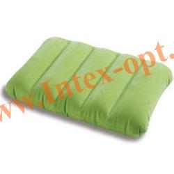 INTEX 68676 Надувная флокированная подушка Kidz Pillow 43х28х9 см(зеленая)