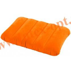 INTEX 68676 Надувная флокированная подушка Kidz Pillow 43х28х9 см(оранжевая)