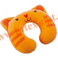 INTEX 68678 Подушка-подголовник для детей Kidz Travel Pillow 30 х 28 х 8 см (без насоса) оранжевый котёнок