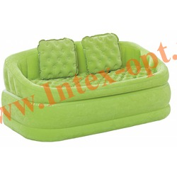 INTEX 68573 Двухместный надувной диван Cafe Loveseat 157х86х69 см (без насоса) лайм