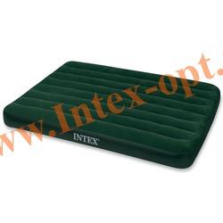 INTEX 66968 Полутороспальный надувной матрас Prestige Downy Bed 137х191х22 см (внешний электрический насос на батарейках)