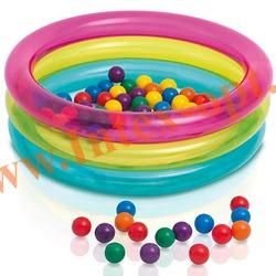 INTEX 48674 Надувной игровой центр Classic 3-Ring Baby Ball Pit 86х25 см (от 1 до 3 лет) без насоса