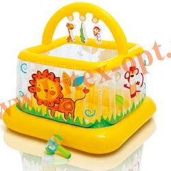 INTEX 48473 Надувной манеж 117х117х117 см Soft-Sides Lil Baby Gym (от 9 до 18 мес.)без насоса