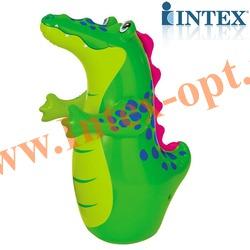 INTEX 44669 Надувная игрушка-неваляшка 3-D Bop Bags аллигатор 95х56 см (от 3 лет) без насоса
