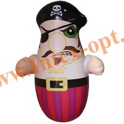 INTEX 44672 Надувная игрушка-неваляшка 3-D Bop Bags пират 91х62 см (от 3 лет) без насоса