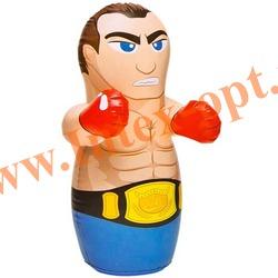 INTEX 44672 Надувная игрушка-неваляшка 3-D Bop Bags боксёр 91х51 см (от 3 лет) без насоса
