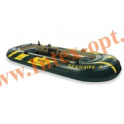 INTEX 68350 Четырёхместная надувная лодка Seahawk-4 351х145х48см(без насоса и весел)