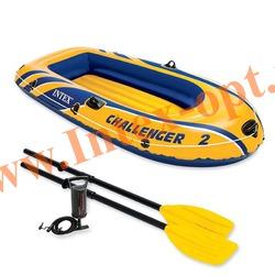 INTEX 68367 Двухместная надувная лодка Challenger-2 Set 236х114х41см(пластиковые вёсла и ручной насос)