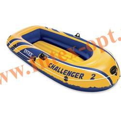 INTEX 68366 Двухместная надувная лодка Challenger-2 236х114х41см(без насоса и весел)